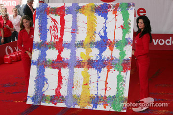Vodafone event at Hockenheim Talhaus: Michael Schumacher and his artwork