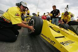 Panther Racing crew member at work