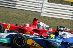Rubens Barrichello and Felipe Massa