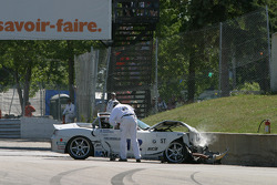 #12 TC Kline Racing BMW Z4: Daniel Colembie, David Tuaty crashes