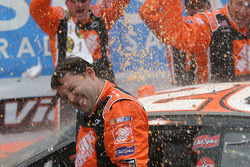 Victory lane: Gatorade shower for race winner Tony Stewart