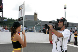 Grid girl and cameraman