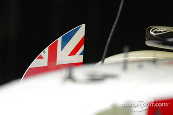 Japanese flag on Jenson Button's car