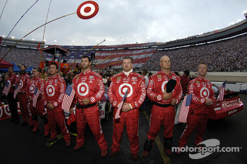Target crew during National Anthem