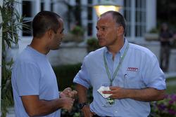Juan Pablo Montoya with Peter Windsor