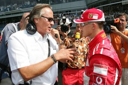 Mansour Ojeh and Michael Schumacher