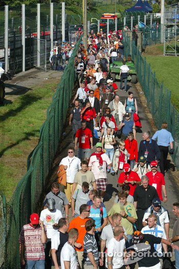 Fans enter the circuit