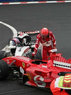 Michael Schumacher not happy at all