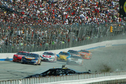 Joe Nemechek goes into the wall