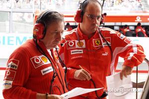 Ferrari's Luca Colajanni (right)