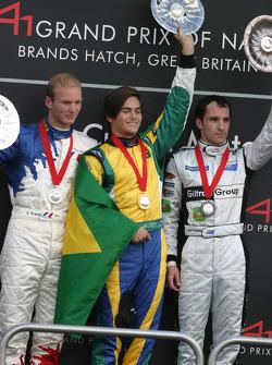 Alexandre Premat, Nelson A. Piquet, Matt Halliday on the podium