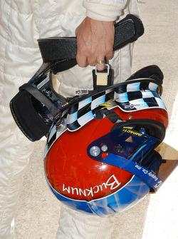 The helmet of Jeff Bucknum