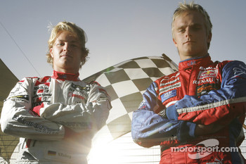 Photoshoot: Nico Rosberg and Heikki Kovalainen