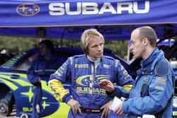 Petter Solberg and engineer Pierre Genon