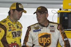 Elliott Sadler and Dale Jarrett