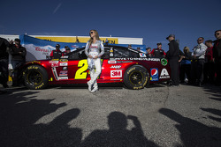 Miss Coors Light with the car of Jeff Gordon, Hendrick Motorsports Chevrolet