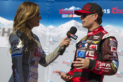 Polesitter Jeff Gordon, Hendrick Motorsports Chevrolet with Miss Coors Light