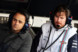 (L to R): Felipe Massa, Williams with Rob Smedley, Williams Head of Vehicle Performance