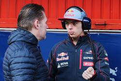Max Verstappen, Scuderia Toro Rosso with his father Jos Verstappen