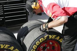 Tire scrubbing