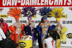 Victory lane: showgirls