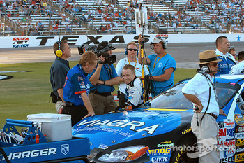 Mark Martin and the Cat in the hat