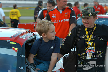 Grandma Nemechek and grandson