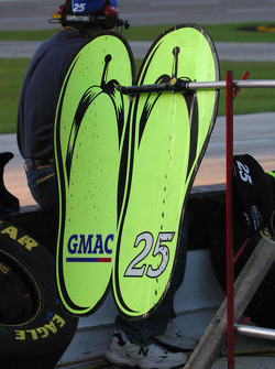 Pit board for Brian Vickers