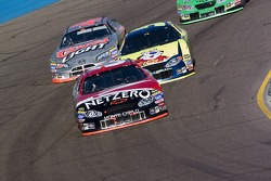 Mike Bliss ahead of Kyle Busch