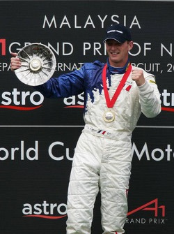 Podium: race winner Alexandre Premat