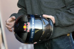 A new Bell helmet tested by David Coulthard