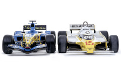Renault R25 and RS11 photoshoot