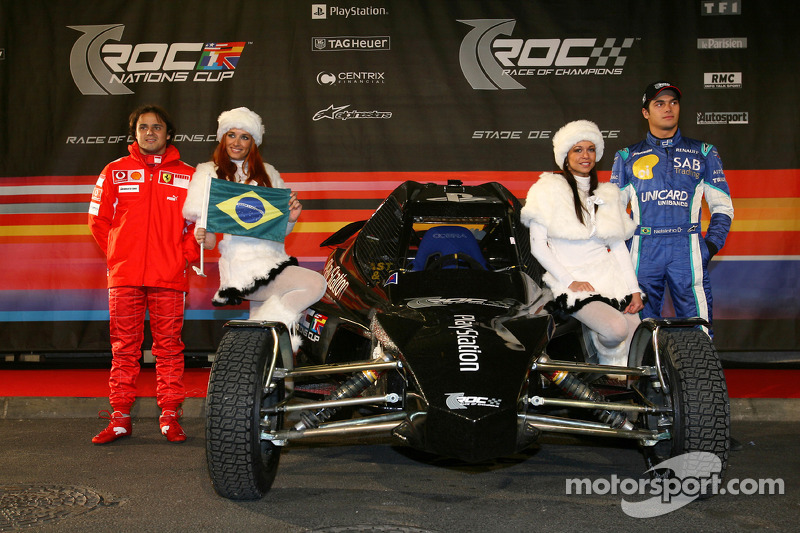 Brazil Nations Cup team Felipe Massa and Nelson A. Piquet