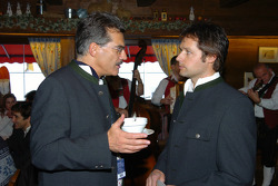 Dr Mario Theissen (BMW Motorsport Director) Andy Priaulx
