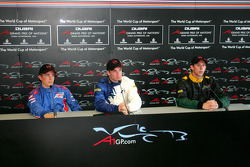 Press conference: race winner Nicolas Lapierre with Robbie Kerr and Stephen Simpson