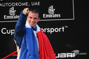 Podium: race winner Nicolas Lapierre