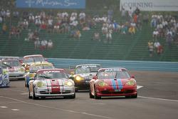 #36 TPC Racing Porsche GT3 Cup: Randy Pobst, Michael Levitas, #73 Tafel Racing Porsche GT3 Cup: Jim Tafel Jr., Andrew Davis