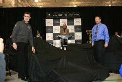 Dario Franchitti about to unveil the car