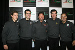 Marco Andretti, Dario Franchitti, Michael Andretti, Bryan Herta and Tony Kanaan
