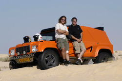 Team Dakar Sport: Bob Ten Harkel and Herman Vaanholt pose with the Team Dakar Sport Bowler