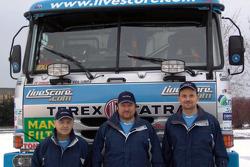 Tomas Tomecek Letka Racing Team: driver and co-drivers Tomas Tomecek, Vojtech Moravek and Vlastimil Buchtyar