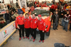 Drivers for Team Repsol Mitsubishi Ralliart: Stéphane Peterhansel, Hiroshi Masuoka, Luc Alphand and Nani Roma
