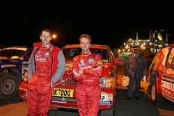 Benoit Rousselot and Sylvain Poncet wait for the ferry