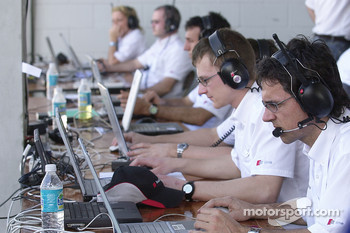 Audi engineers hard at work