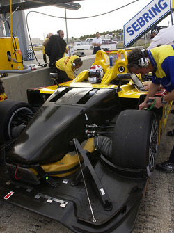 Sascha Maassen sits in the Porsche RS Spyder