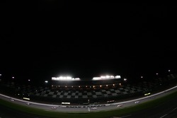 Race action at night