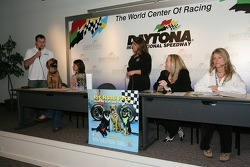 Pit Road Pets book presentation: Ryan Newman talks to the media