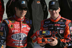 Front row for the Daytona 500: pole winner Jeff Burton with runner-up Jeff Gordon