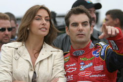 Jeff Gordon with girlfriend Ingrid