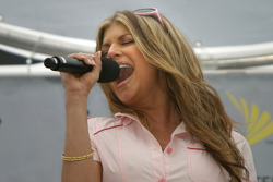 Singer Fergie performs National Anthem